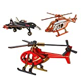 3D Puzzle, Zedela Airplane Model Wooden Puzzles for Adults/Boys/Girl/Kids Puzzles 3 PCS Kits 3D Wooden Puzzle Toy for Christmas/Birthday/Thanksgiving Day Gift