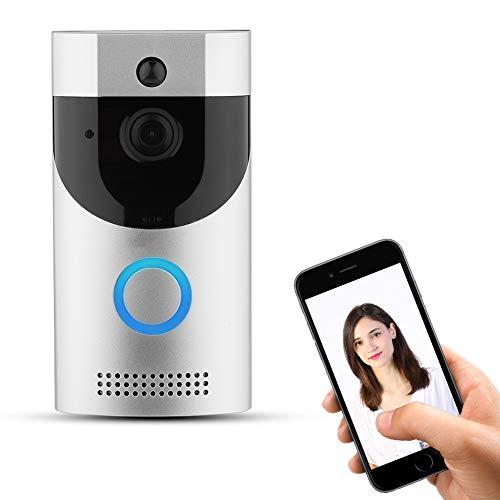 Deurbel, draadloos, videocamera, draadloos, zichtbaar, met intelligente videobel met nachtzicht, infrarood, noodalarm/bewaking via mobiele telefoon.