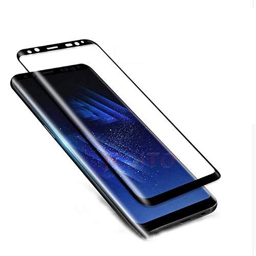 Samsung Galaxy S8 Displayschutzfolie [2er-Pack] [3D Gebogen [Anti-Kratzer] 9H Härte gehärtetes Glas Folie Displayschutzfolie für Samsung Galaxy S8
