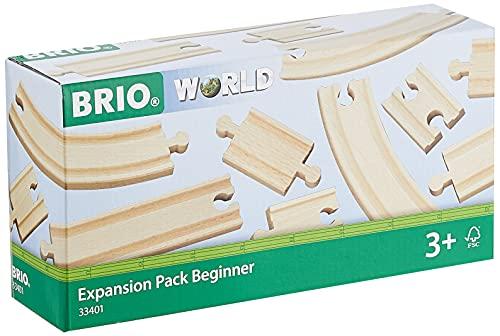 BRIO World 33401 Kleines Schienensortiment – 11 Schienen aus Buchenholz für die BRIO Holzeisenbahn – Empfohlen für Kinder ab 3 Jahren