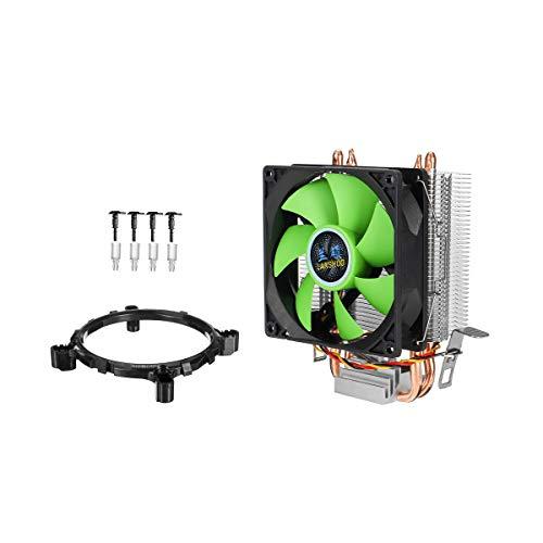 Accesorios electrónicos de bricolaje, 3Pin Square Fan CPU Refrigerador de calor Velocidad de disipador de calor de hasta 2100 RPM FANS MUTE DE ENFRIENCIA PARA INTEL LGA775 / 1156/1155 AMD / AM2 / AM3