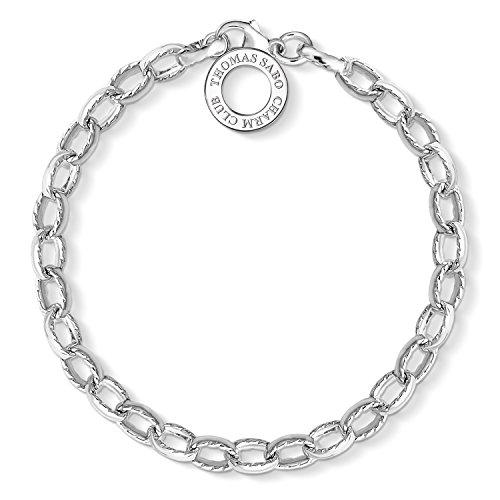 Thomas Sabo Damen-Armband Charm Club 925 Sterling Silber Länge 18 cm X0230-001-12-L18