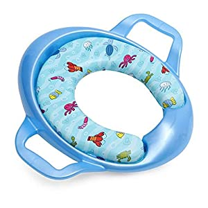 Safe-O-Kid Soft Cushioned Potty Seat Training with Easy Grip Handles for Baby, Blue, 4-36 Months 13 41hVbUvWFCL. SS300