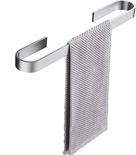 Handtuchstange, Handtuchhalter ohne Bohren 40cm, Handtuchring, Selbstklebender Ohne Bohren Handtuchstange, Aluminium, Badetuchhalter Silber