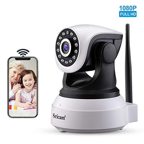 Sricam SP017 telecamera wi-fi interno senza fili 1080P telecamera videosorveglianza wifi telecamera sorveglianza wifi videocamera Audio Bidirezionale, Modalità Notturna a Infrarossi