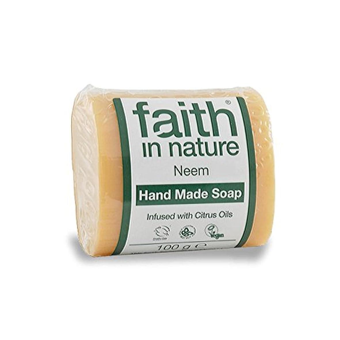 パスタモンキージェスチャーFaith in Nature Neem & Propolis Soap 100g (Pack of 6) - 自然ニーム&プロポリス石鹸100グラムの信仰 (x6) [並行輸入品]