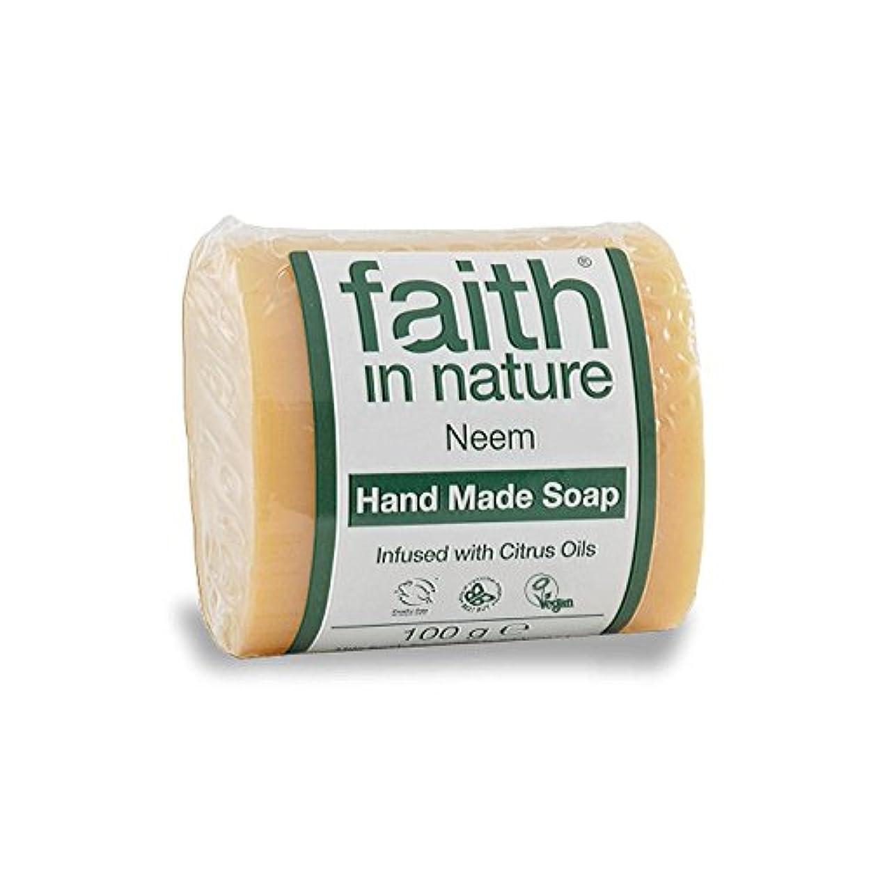 実証するフェロー諸島カウボーイFaith in Nature Neem & Propolis Soap 100g (Pack of 6) - 自然ニーム&プロポリス石鹸100グラムの信仰 (x6) [並行輸入品]