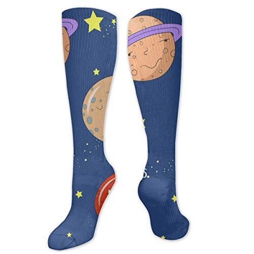 Educatief spel voor kinderen leren planeten sokken knie hoge sokken vrouwen 50cm