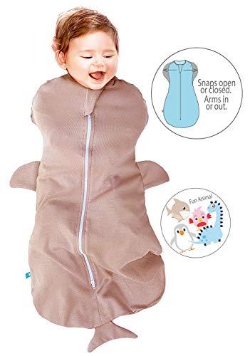 Wallaboo Baby Schlafsack, Der idealer erster Pücksack für Ihre Kleinen 100% Baumwolle, Super für Babys die oft wach werden, Passend auch für alle Babyschale, Maße S: 0–3 Mon., 3 – 6 kg, Farbe: Taupe