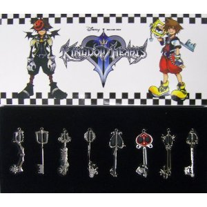 Kingdom Hearts II 8*Keyblade Pendant Necklace Set 2 Sora