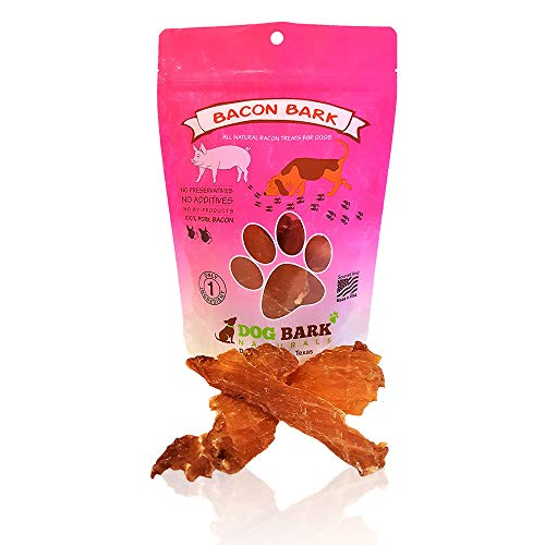 Dog Bark Naturals Bacon Bark - All Natural Bacon Jerky Dog and Puppy Treats, No fillers, Responsibly Sourced and Made in The USA