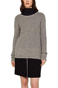 ESPRIT Damen 119EE1I023 Pullover, Grau (Gunmetal 5 019), Medium (Herstellergröße: M)