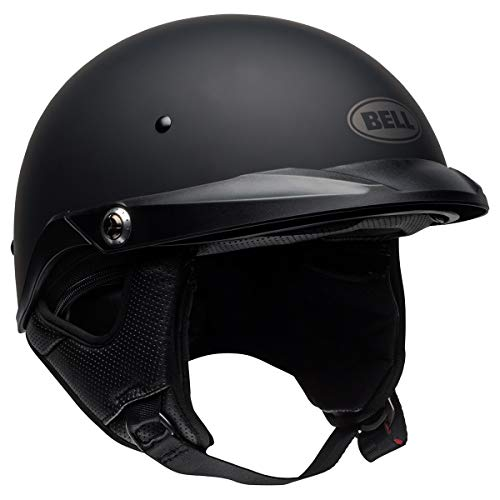 Bell Pit Boss Open-Face Motorcycle Helmet (Solid Matte Black, X-Small/Small)