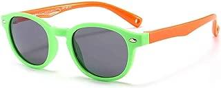Children's Silicone Sunglasses Boys and Girls Fashion Rice Nail Sunglasses Polarized Uv Child Mirror Baby Glasses,Green