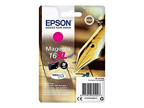 Epson C13T16334012 Cartucho de Tinta A.R. Serie, 16XL, Magenta, Ya disponible en Amazon Dash Replenishment