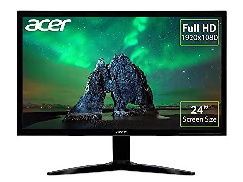 Acer KG241 24 Inch Full HD Gaming Monitor (TN Panel, FreeSync, 75 Hz, 1 ms, HDMI, VGA, Black)