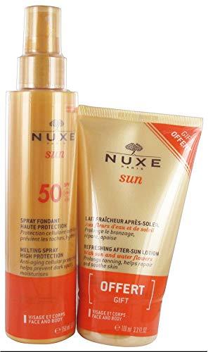 Nuxe Sun Spray Fondant Haute Protection SPF 50 150 ml + Lait Fraîcheur Après-Soleil 100 ml Offert