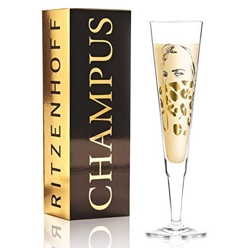 Ritzenhoff Champus - Copa de champán (cristal, 205 ml, incluye servilleta)