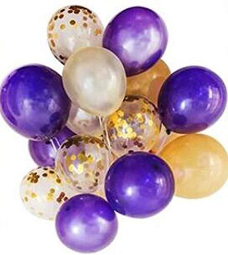 Gouden confetti ballonnen, 20 stuks, 12 inch cirkel latex, helder ballonnen met paillette, opblaasbare ballon voor bruiloft Valentijnsvoorstelling babyparty Thanksgiving afstudeerfotografie props achtergrond verzorging goud/paars/wit.