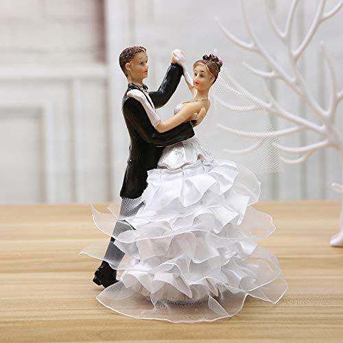Diaosuw Skulpturen,Nordic Kreative Resin Statue Tanzpaare Puppe Figuren Romantische Hochzeit Schmuck Europa Hochzeit Statuette Sweet Home Zubehör
