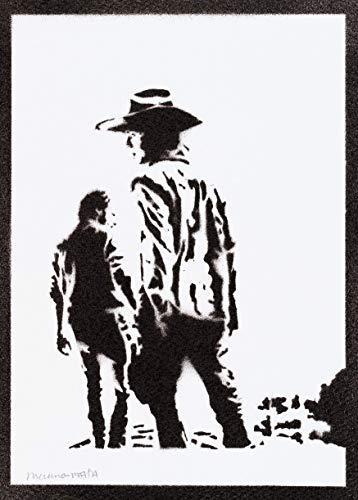 Poster Carl Rick The Walking Dead Grafiti Hecho Mano
