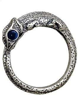 SR Fashion Man Woman Ring Chameleon Lizard Ring 925 Sterling Silver Zirconia