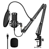 Aokeo AK-60 Professional Studio Live Stream Broadcasting Recording Condenser USB Microphone With Mic