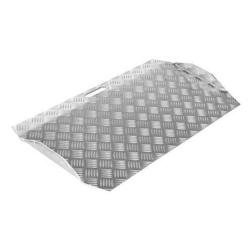 SecuCare - Rampa Para Silla De Ruedas. 75x63x7-15 CM. AntiDeslizante. Para Interior Y Exterior. Aluminio Reforzado