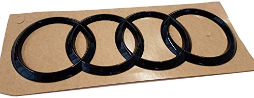 Audi 8V7071802 Anelli Emblema Logo nero Tuning Exclusive Black Edition, per Q3 (tipo F3) Sportback,