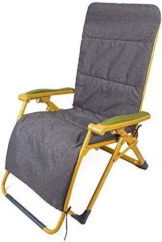 Office Life Liegesessel, Strandstühle, klappbare Strandstühle Gartenstühle im Freien Terrassenrahmen aus pulverbeschichtetem Stahl Wetterfest und Netzgewebe (Farbe: Dunkelgrün)