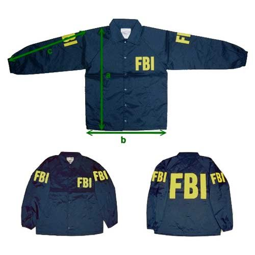 ミルフォース ウィンドブレーカー FBI 連邦捜査局 Mサイズ