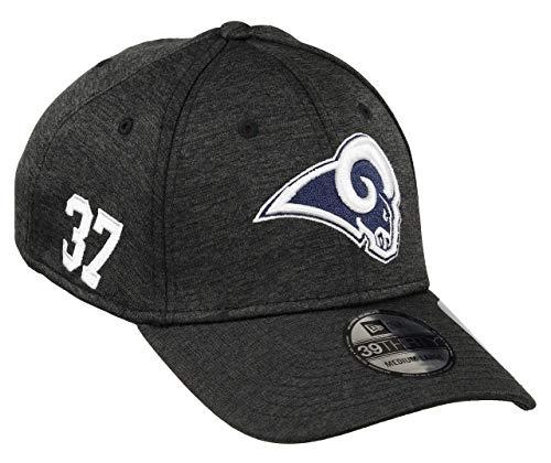New Era Los Angeles Rams 39thirty Stretch Cap NFL Established Number Black - S-M
