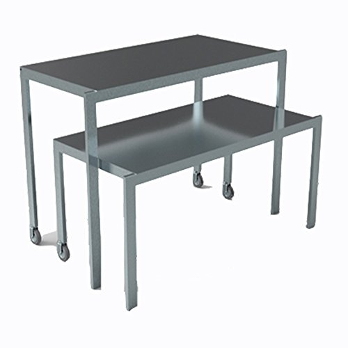 metalarredo Coppia di tavoli impilabili con Ruote