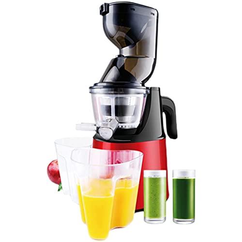 SHENRQIA Licuadora de Frutas Portátil Nuevo Tipo Multifunción Exprimidor, 150w,Capacidad 2L,Extractor de Nutrientes,Ruido Bajo,110v(Rojo)