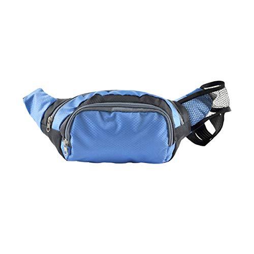 LIOOBO Senderismo Bolso de Cintura Fanny Pack con Soporte para Botella de Agua para Hombres, Mujeres Que corren Perro Caminando (Azul)