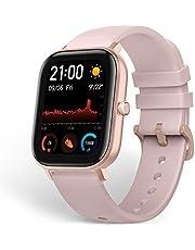 Amazfit Smartwatch GTS sporthorloge met kleurendisplay, 5 ATM waterdicht, stopwatch met GPS, stappenteller, slaapmonitor, 12 sportmodi, voor dames en heren