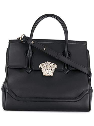 Versace Luxury Fashion Damen DBFF453NDSTVTD41OC Schwarz Leder Handtaschen | Jahreszeit Permanent