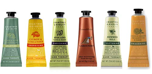Crabtree and Evelyn Hand Therapy 6 pack set 0.86oz/ 25ml each