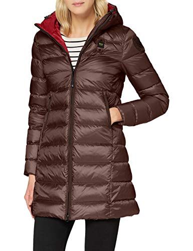 Blauer Damen IMPERMEABILE/TRENCH LUNGHI IMBOTTITO PIUMA Alternativer Daunenmantel, 594rt Marron Glace' Int. Rosso Sangue, L