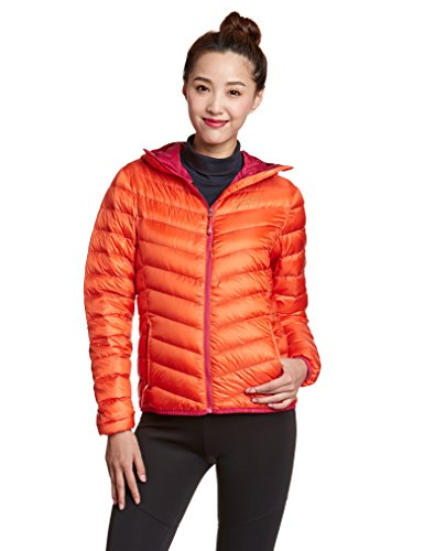 Odlo Damen Jacket Insulated AIR Cocoon Jacke, Spicy orange - Cerise, XL