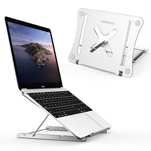 """ANSGEC Soporte Portatil, Todo aluminio estable soporte para portatil, Anti-scratch, 12 Ángulos Ajustables soporte ordenador portátil, Refrigeración laptop stand para Macbook DELL, HP, PC y Otro 11-17"""""""