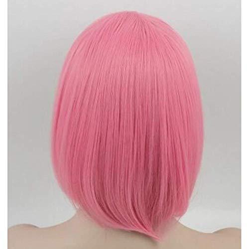 DGHJK Perruques pour Femmes Cheveux Courts Blonde synthétique résistant à la Chaleur Courte Perruque ondulée Costume fête Femmes étudiantes Cheveux Fantaisie Robe Perruques