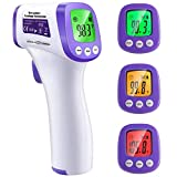 MAMI&BABI Non-Contact Infrared Forehead Thermometer, ˚C / ˚F Adjustable and Memory Function, Accurate Instant Readings Thermometer for Adults Fever - 1 Pack