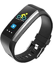 HKPLDE Fitness Tracker/Stegräknare Kaloriräknare Bluetooth Färgskärm Smart Klocka Samtalspåminnelse för Android och IOS för kvinnor Barn Aktivitetsspårare