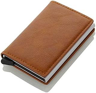 MVE® Carrken Antitheft Men and Women Debit,Credit Card Holder PU Leather RFID Bank Card Cases Business Card Pocket FL20 (Brown)