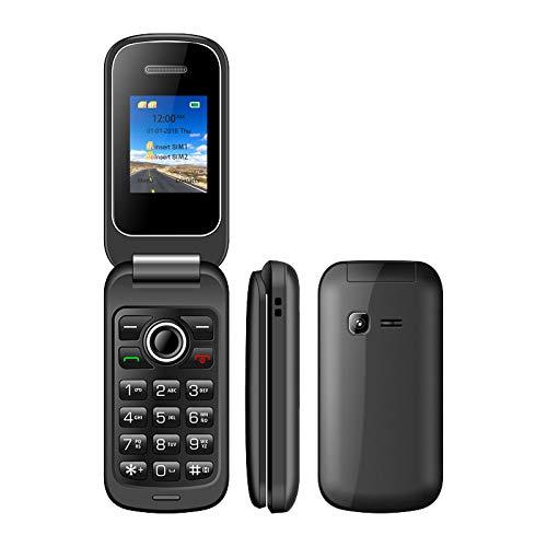 WEUN Teléfono abatible Desbloqueado, teléfono abatible con botón SOS, Ranuras para Tarjetas SIM Dobles Teléfonos celulares básicos, botón Grande de Gran Volumen, para Personas Mayores, niños
