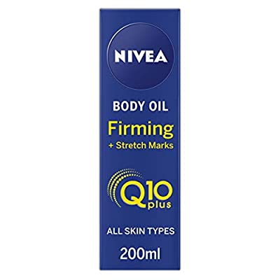 Nivea Q10 Body Oil Firming + Stretch Marks (200 ml), Nourishing Body Oil for Women with Q10, Body Oil Firms Skin and Reduces the Appearance of Stretch Marks from Beiersdorf