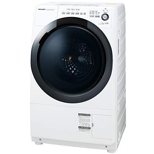 シャープ  ドラム式 洗濯乾燥機 ヒーターセンサー乾燥 右開き(ヒンジ右) 洗濯7kg/乾燥3.5kg ホワイト系 幅6...