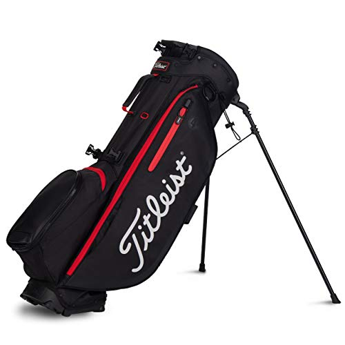 Titleist Players 4 Plus Stand Golf Bag Black/Black/Red
