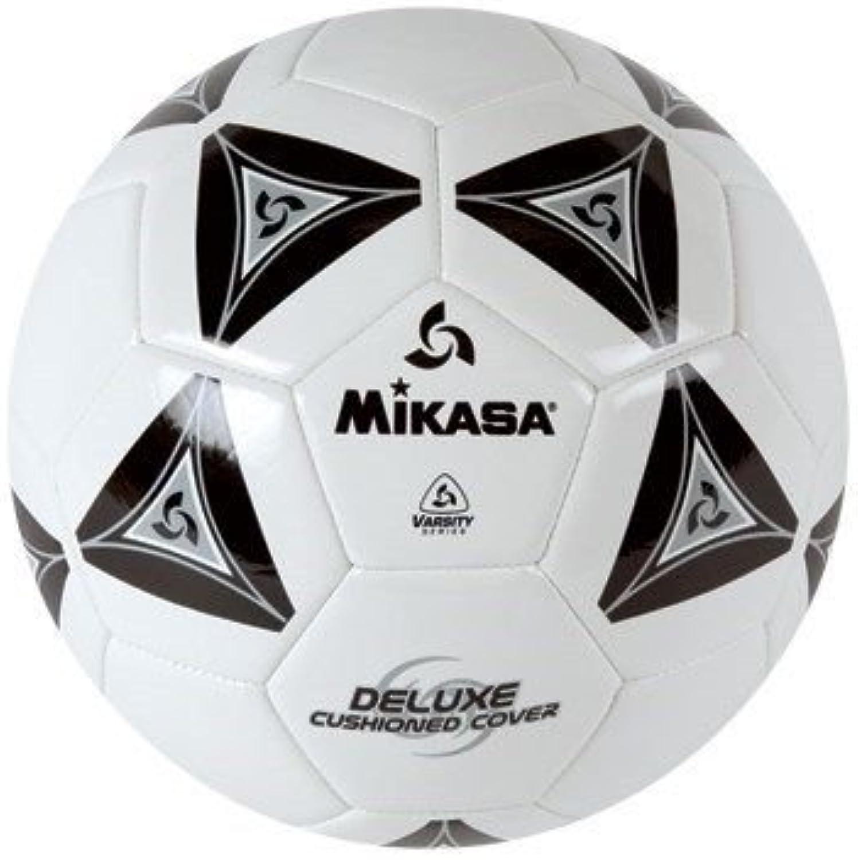 Mikasa Deluxe Soccer, Football, Futbol Ball Size 5white with Black